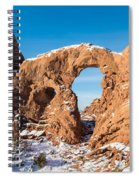Turret Arch In Winter Spiral Notebook