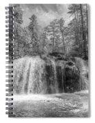 Turtletown Creek In Black And White Spiral Notebook