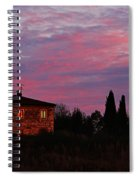 Tuscan Farmhouse And Morning Glow Spiral Notebook