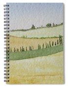 Tuscan Hillside Four Spiral Notebook