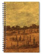 Landscape And Winding Road With Cypress Trees Spiral Notebook