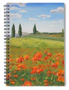 Tuscan Poppies-b Spiral Notebook