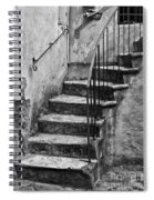 Tuscan Staircase Bw Spiral Notebook