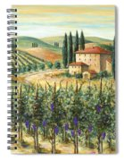 Tuscan Vineyard And Villa Spiral Notebook