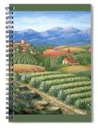 Tuscan Vineyard And Village  Spiral Notebook