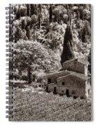 Tuscan Vinyard Spiral Notebook