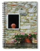 Tuscan Window And Flower Pot Spiral Notebook