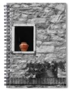 Tuscan Window And Pot Bw And Color Spiral Notebook