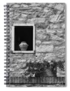 Tuscan Window And Pot Spiral Notebook