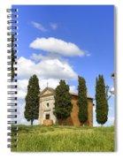 Tuscany - Cappella Di Vitaleta Spiral Notebook