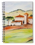 Tuscany-again And Again Spiral Notebook