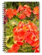 Tuscany Flower Garden Spiral Notebook
