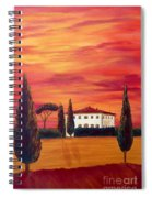Tuscany In Red Spiral Notebook