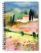Tuscany Landscape 02 Spiral Notebook