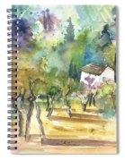 Tuscany Landscape 05 Spiral Notebook