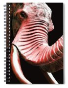 Tusk 4 - Red Elephant Art Spiral Notebook