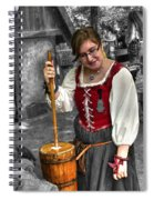 Tutor Milkmaid Churning Butter  V2 Spiral Notebook