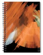 Tutu Stage Left Peach Abstract Spiral Notebook