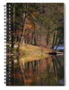Tuxedo Lake Autumn Spiral Notebook