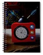 Tv Clock Spiral Notebook