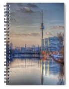 Tv Tower Sunset Spiral Notebook