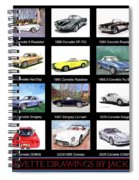 Twenty Corvettes Spiral Notebook
