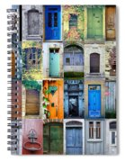 Twenty Four French Doors Collage Spiral Notebook