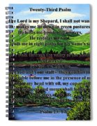 Twenty-third Psalm And Twin Ponds Spiral Notebook
