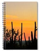 Twilight After Sunset Sonoran Desert Spiral Notebook