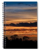 Twilight Colorful Sunset Spiral Notebook