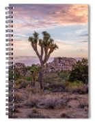 Twilight Comes To Joshua Tree Spiral Notebook