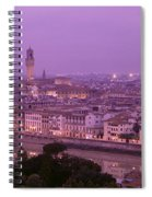 Twilight, Florence, Italy Spiral Notebook