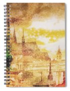 Twilight In Praha Spiral Notebook