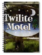 Twilight Motel Spiral Notebook