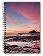 Twilight On Harkness Rocks Bamburgh Spiral Notebook