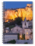Twilight Over Les Baux Spiral Notebook