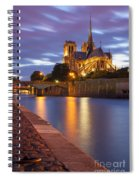 Twilight Over Notre Dame Spiral Notebook