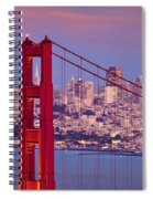 Twilight Over San Francisco Spiral Notebook