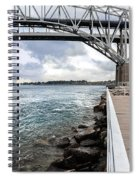 Twin Bridges Over Blue Water Spiral Notebook