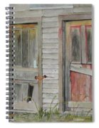 Twin Doors In Watercol Spiral Notebook