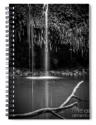 Twin Falls Hana Highway Maui Hawaii Black And White Spiral Notebook