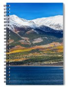 Twin Lakes Colorado Autumn Panorama Spiral Notebook