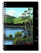 Twin Ponds And 23 Psalm On Black Horizontal Spiral Notebook