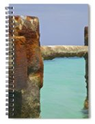 Twin Rusted Dock Piers Of The Caribbean Spiral Notebook