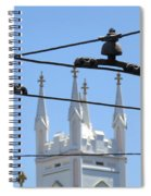 Twin Spires And Trolley Lines Spiral Notebook