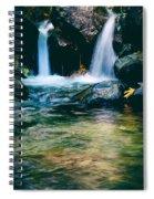 Twin Waterfall Spiral Notebook