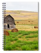 Twisted Barn On Canadian Prairie, Big Spiral Notebook