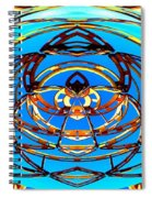 Heart In Blues Spiral Notebook