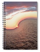 Twisted Sunset Spiral Notebook