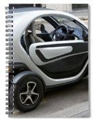 Twizy Rental Electric Car Side And Back Milan Italy Spiral Notebook